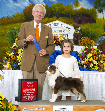 Kash wins First Place at the Douglasville Kennel Club